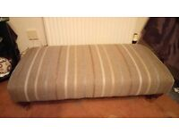 Large two seater and foot stool