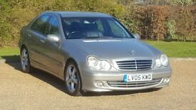 MERC C180 KOMP A/GARDE SE AUTOMATIC 05PLATE 3P/LADY OWNER 93000 MILES FULL SERVICE HISTORY LEATHER