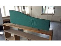 x3 desk partitions - £15 for all - used but in great condition. One green, two blue - all 120mm wide