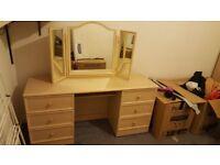 Dressing Table, Wardrobe & Drawer Set