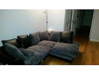 Grey and Black, Right Hand, Corner Sofa