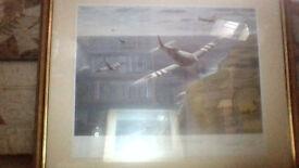 SPITFIRE framed signed print