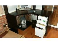 Ikea computer desk and drawer station