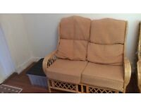 Conservatory furniture, 2 seat couch and chair x2. (Sofa,lounge,garden)