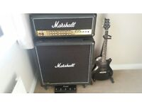 PRS Custom Electric Guitar, Full Speaker setup, Case, Stand and Tuner.
