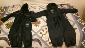 2 x all in one outdoor suits age 2-3