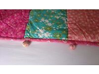 Pretty quilted bedspread