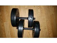 Pair of 10kg dumbbells