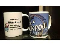 2 Blackpool mugs