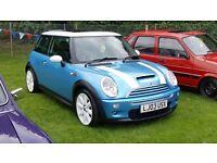 Mini Cooper S Blue & White