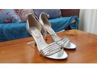 NEXT, SIZE 4 silver sandals