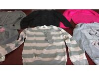 6 long sleeved tops/cardigan. Age 8