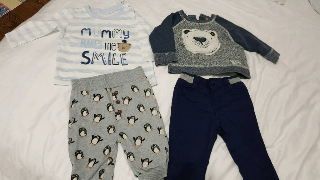 Winter Bundle Baby Boys Trousers/Tops 0-3 months  from Mattalan/Nutmeg