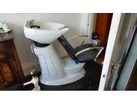 Salon backwash chair/basin for sale
