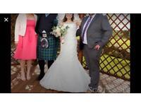 Stunning lace wedding dress - size 12/14