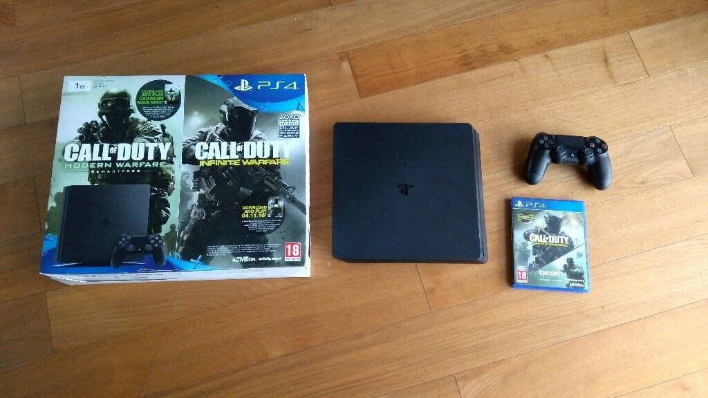 PS4 slim 1tb Infinity Warfare MW2 legacy Bundle (PS4 + 2 games + 1  controller) | in Putney, London | Gumtree