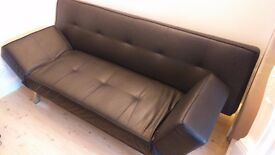 For Sale Black Faux Leather Sofa Bed