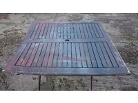 Folding wooden garden table ***Can deliver***