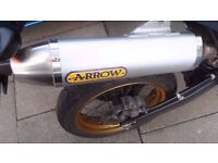 Honda crf250m crf 250 m full arrow race / road system supermoto enduro crf250l crf 250 l