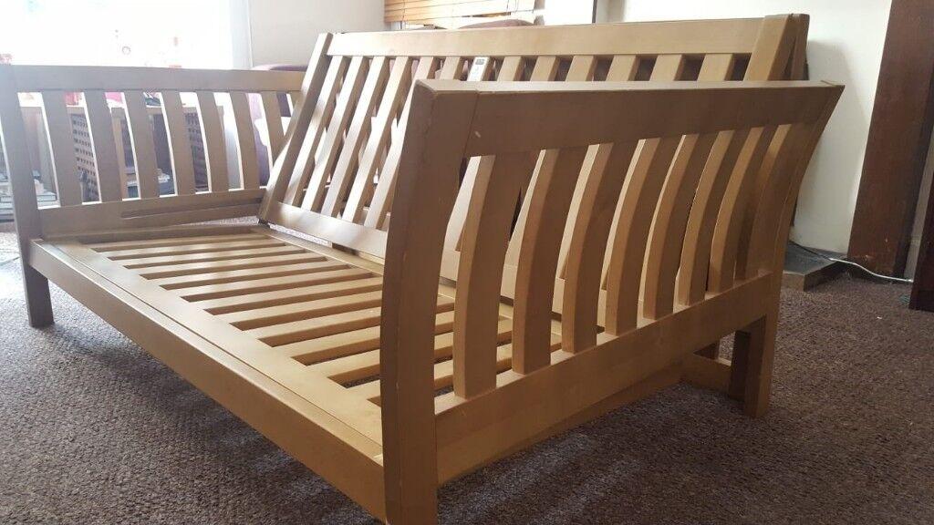 Futon 3 Seater Sofa Double Bed Frame Free