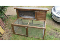 "Double Hutch With Under ""Run by Rabbit Shack"""
