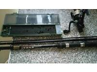 3 piece shakespeare rod and bsitrunner reel