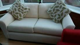 Cream Sofa VGC
