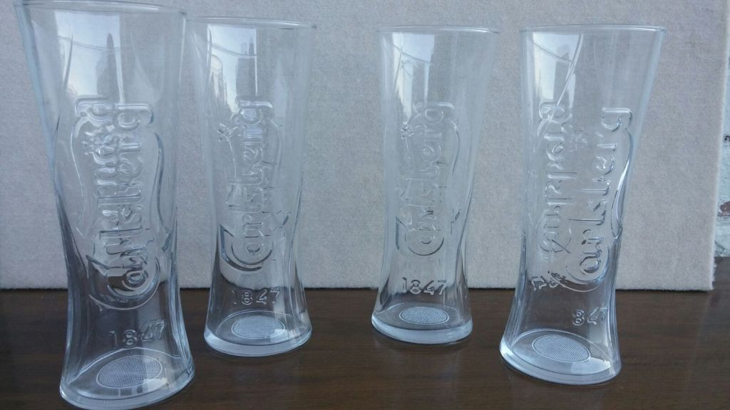 CARLSBERG LAGER PINT GLASSES 1847