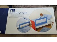 Mothercare blue soft folding bed guard