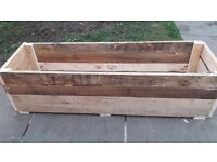 Planters Rectangular 1.2meter long 1feet width 11inch high hand made free local delivery £30