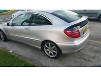 MERCEDES C 200 COMPRESSOR COUPE 6 SPEED MANUAL EXCELLENT RUNNER,PX WELCOME,NEGOTIABLE,GIVE ME OFFER?