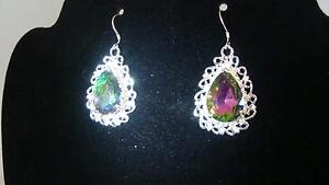 Rainboe Topaz Earrings Kitchener / Waterloo Kitchener Area image 2