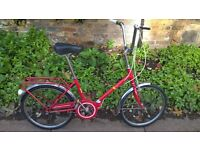 Vintage Folding 3 Speed Bike in Excellent Condition