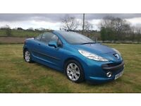 2008 PEUGEOT 207 CONVERTIBLE SPORT 1.6 HDI DIESEL..FULL SERVICE HISTORY..POSSIBLE PART EXCHANGE