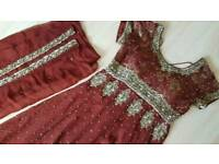 Brand new asian brown dress suit