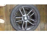 "Vauxhall Corsa 17"" Alloy black 4 stud NO TYRE INCLUDED"