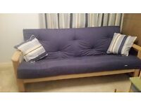 WOODEN SOFA BED - 3 SEATER IMMACULATE CONDITION