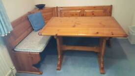 Dining table & Bench style seating with storage QUICK SALE WANTED