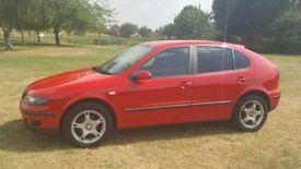 Seat Leon 1.6S, 2005, petrol, manual transmission, 106K miles, MOT until 07/08/19