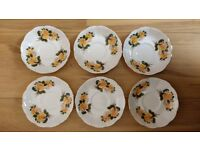 Richmond Bone China (Yellow Roses, name unknown) - 6 cups, 6 saucers