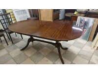 Dark wood extendable table 5ft long delivery available
