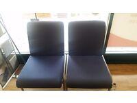 Blue waiting chairs
