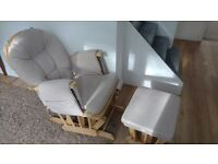 Nursery recline glider Chair and Stool