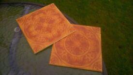 orange ceramic tiles