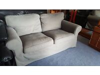 Two-seater IKEA Grey Fabric Ektorp Sofa in Excellent Condition