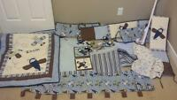 full crib boys bedding set only $60