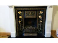 Fire Place - Victorian Style with Tiles including coal effect gas fire