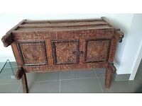 Carved Antique Afghan Chest