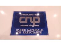 Vtg French Assurances Vie CNP Bakelite Sign Store Display