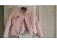 pink leather jacket age 6-7 yrs old